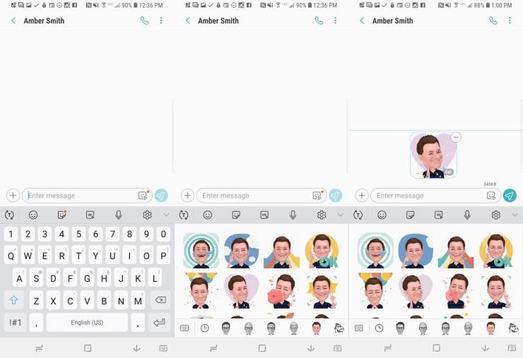Lägg till en AR Emoji som klistermärke eller GIF.