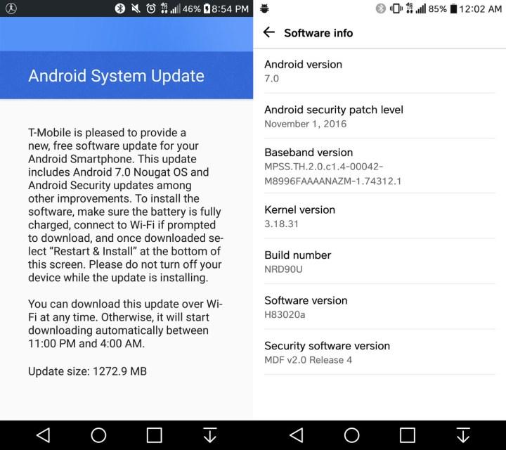 T-Mobile LG G5 Android 7.0-uppdateringen är nu tillgänglig