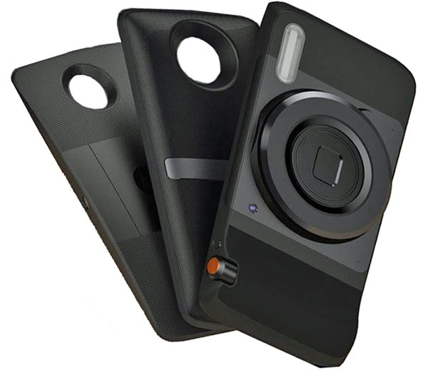 Pico-projektor, JBL-högtalare, Hasselblad-kameramoduler