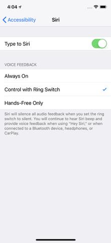 Vrid Siri till Control med Ring Slider