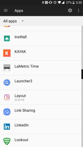 Launcher3 i appar