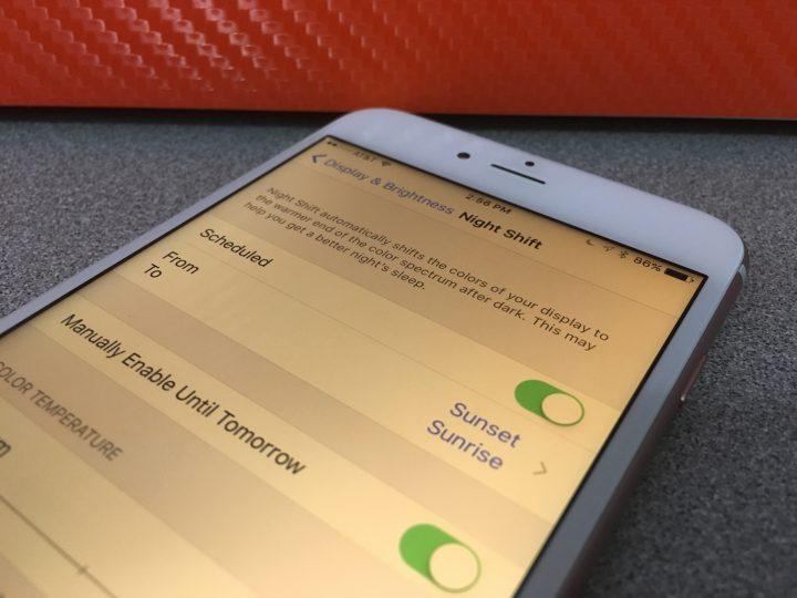 Night Shift för iPhone lovar bättre sömn