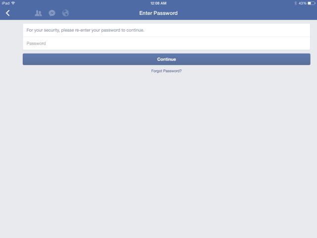 Facebook-lösenord