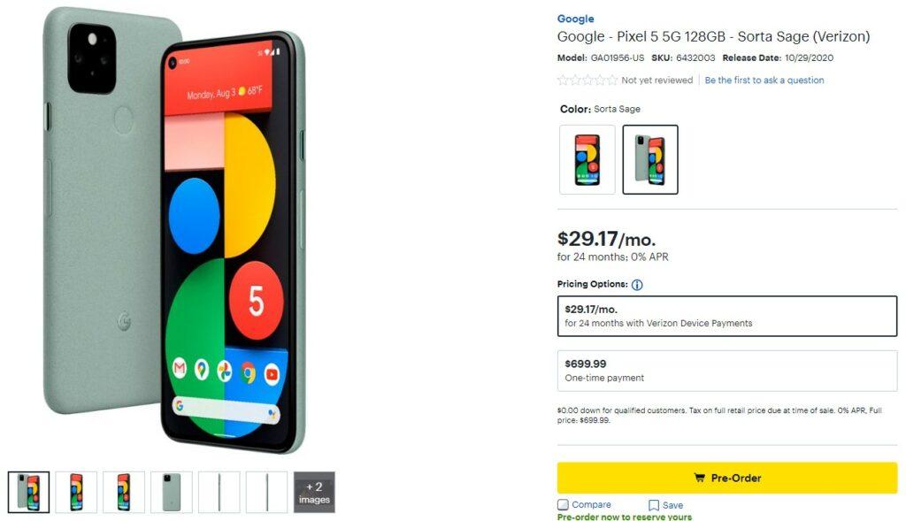 Så här förbeställer du Google Pixel 5 12