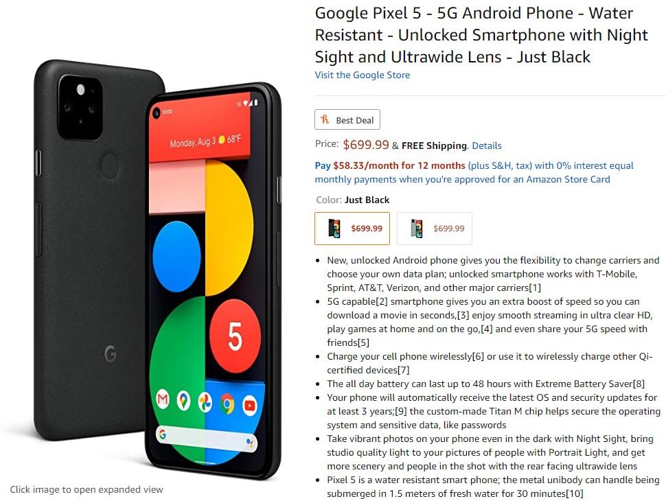 Så här förbeställer du Google Pixel 5 13