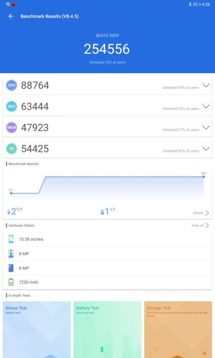 Huawei MatePad 10.4 riktmärke