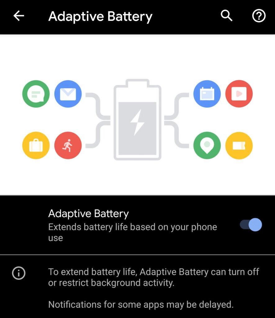 Android-adaptivt batteri