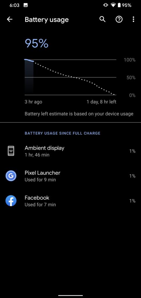 Kalibrera batteri på Android - Batteristatistik
