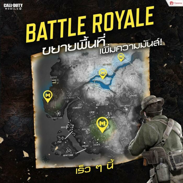 COD Mobile säsong 9 Battle Royale Nya platser