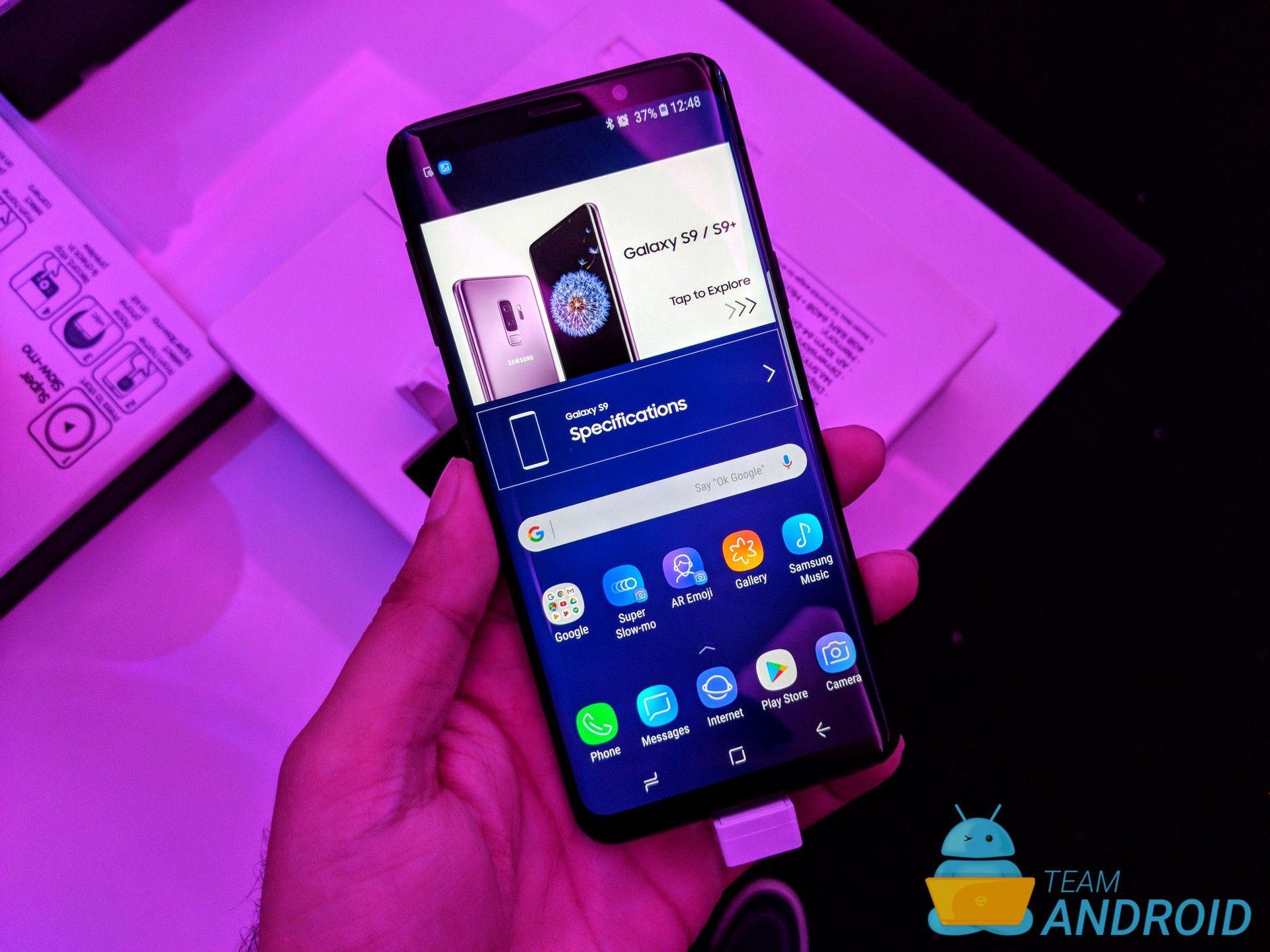Uppdatering av Galaxy S9 One UI 2.1