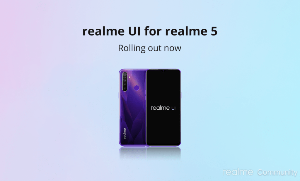 Realme 5 / 5S Android 10-uppdatering