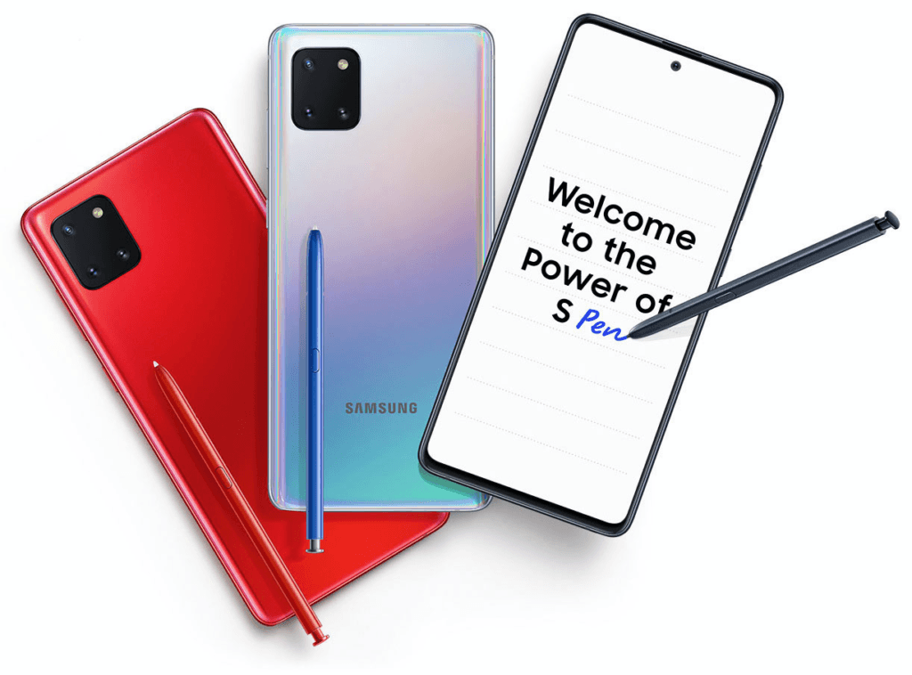 En UI 2.1-uppdatering, Samsung Galaxy Note 10 Lite