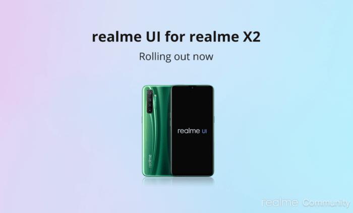 Uppdatering av Realme X2 / X2 Pro Android 10 |  Realme UI Ladda ner 11