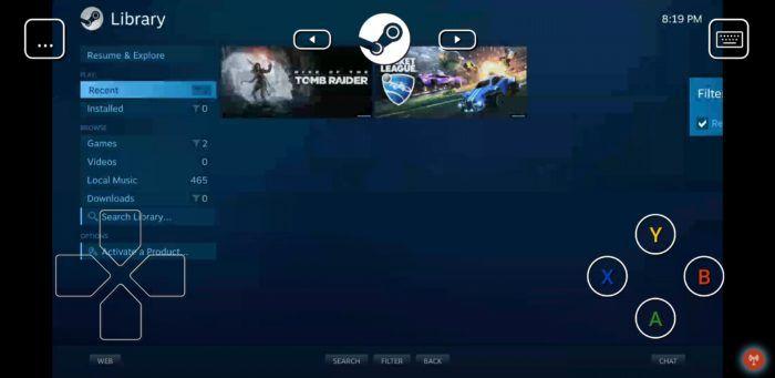 Steam-spel på Android