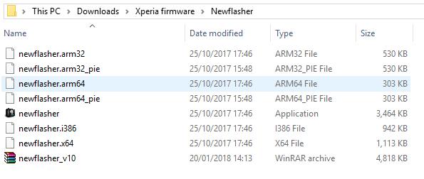 Newflasher för Sony Xperia