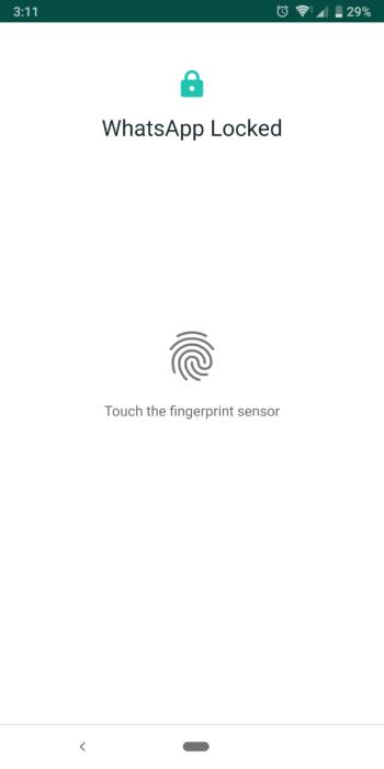 Så här aktiverar du fingeravtryckslås på WhatsApp Beta för Android 18