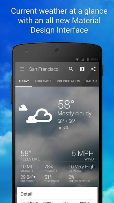 Bästa väderappar att installera på Android 14