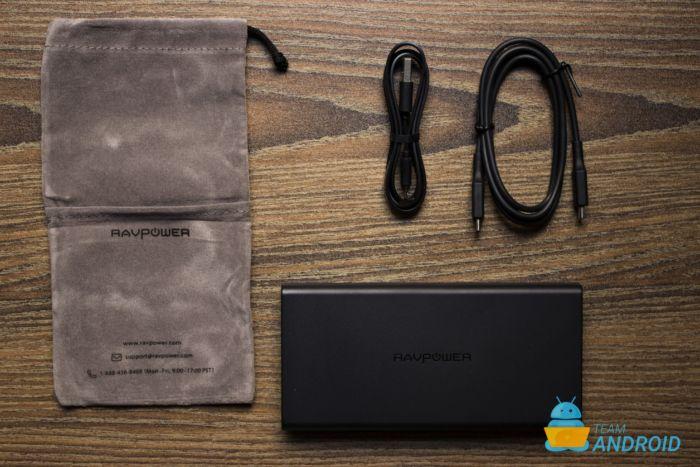 RAVPower 20,100mAh 45W Power Bank - Inuti lådan