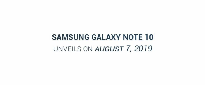 Samsung Galaxy Note 10, lanseringsdatum