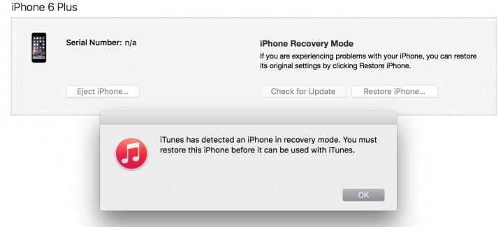 När du är klar ser du detta iTunes-meddelande.