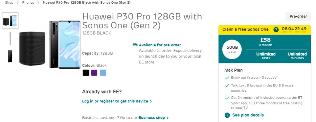 Huawei P30 EE