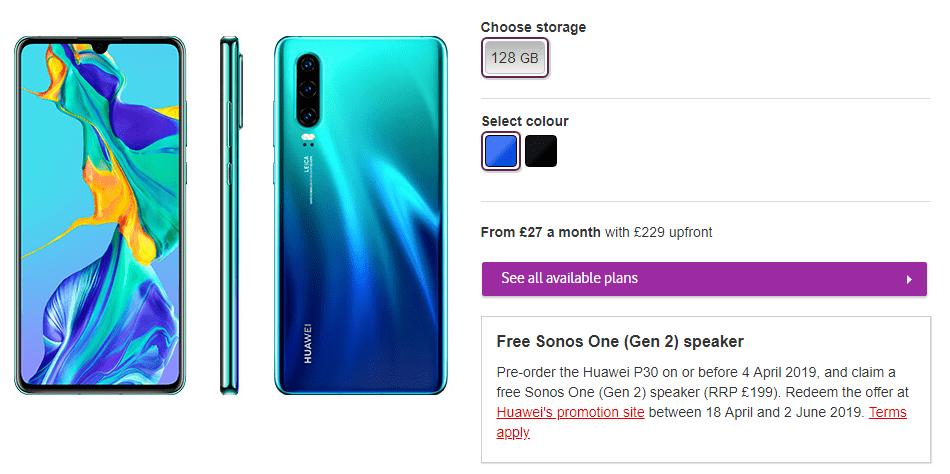Köp Huawei P30 på Vodafone
