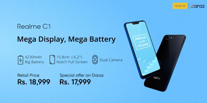 Realme tillkännager nya telefoner i Pakistan - Realme 2 Pro, Realme C1 13