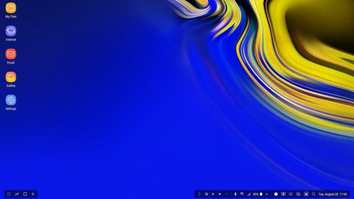 Samsung Dex skärmdump - Samsung Galaxy Note 9