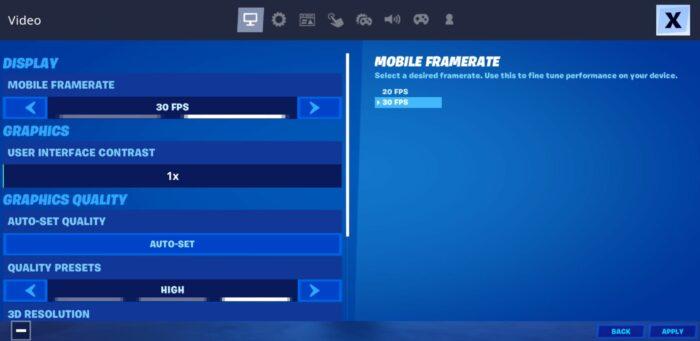 Fortnite Android GameUserSettings.ini-fil