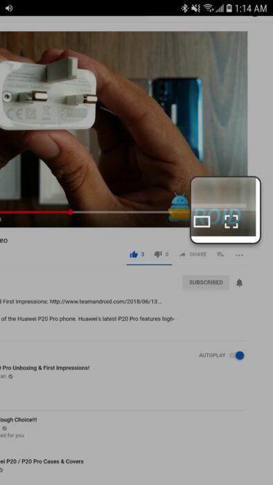 Titta på YouTube-videor i bild-i-bild-läge utan YouTube Red-prenumeration 13