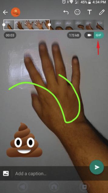 Hur man konverterar videor till GIF med WhatsApp 11