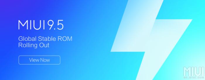 MIUI 9.5 Global Stable ROM för Xiaomi Redmi Note 5