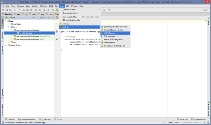 Installera Andriod Emulator-1