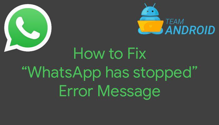 """Hur man fixar """"WhatsApp har slutat"""" Felmeddelande"""