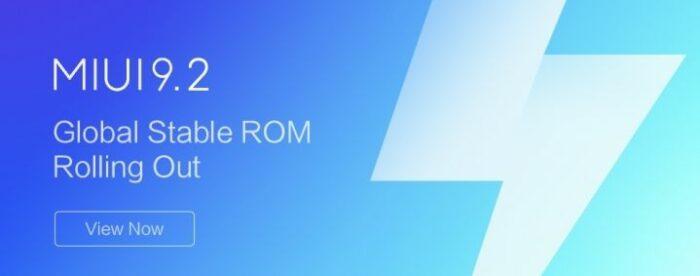 Hämta MIUI v9.2.3 - Android 8.0 Oreo ROM
