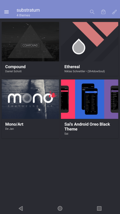Installera Substratum Theme Engine på Android Oreo
