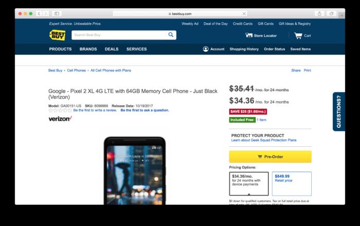 Köp Google Pixel 2 från Best Buy