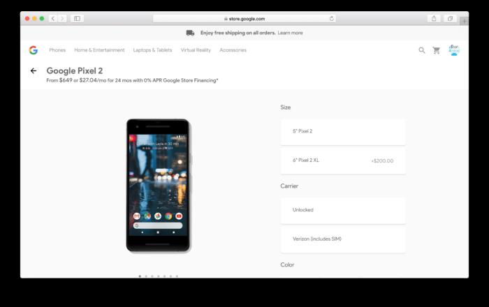 Köp Google Pixel 2 från Google Store