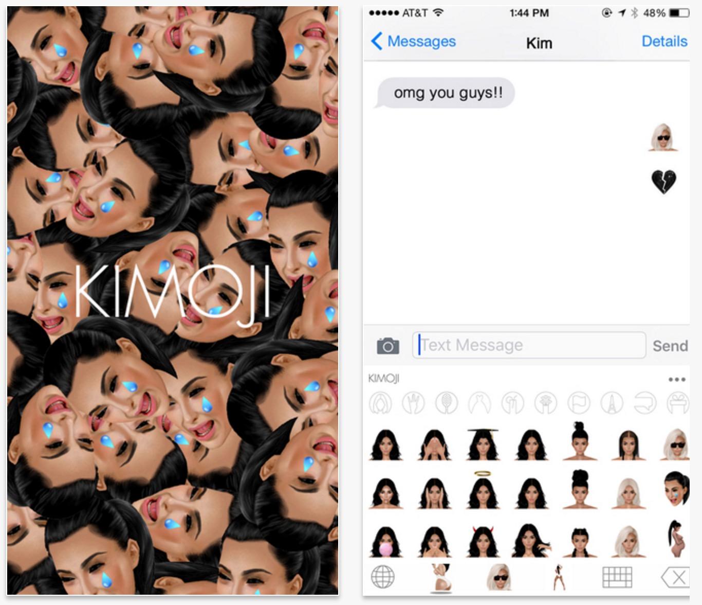 Den nya sommaren Kimoji lägger till över 100 Kardashian emoji och 19 gifs för 99 cent.