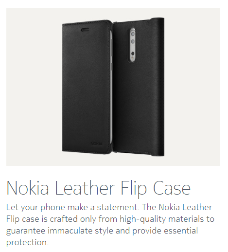 Nokia 8 officiella tillbehör: Flipfodral i läder, trådlösa hörlurar 11
