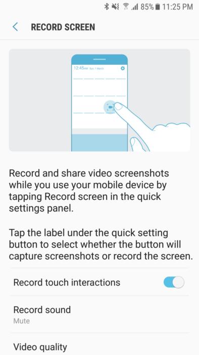 Samsung skärminspelare