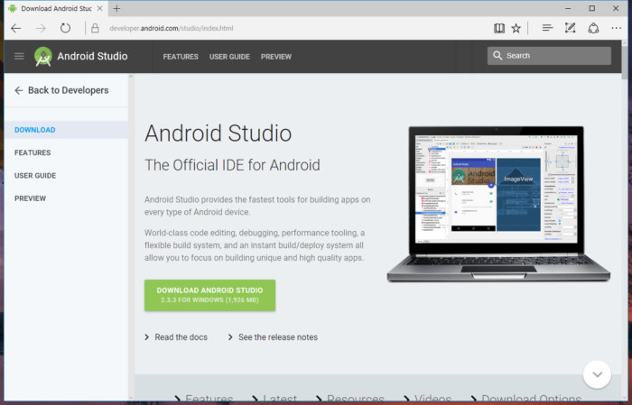 Ladda ner Android Studio