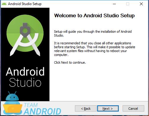 Installera Android Studio - installationsguiden 1
