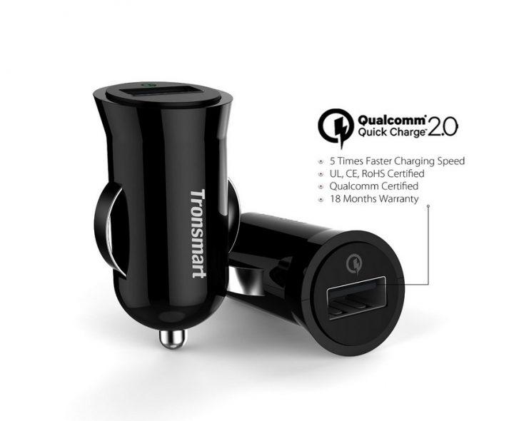 Tronsmart Quick Charge 2.0 billaddare