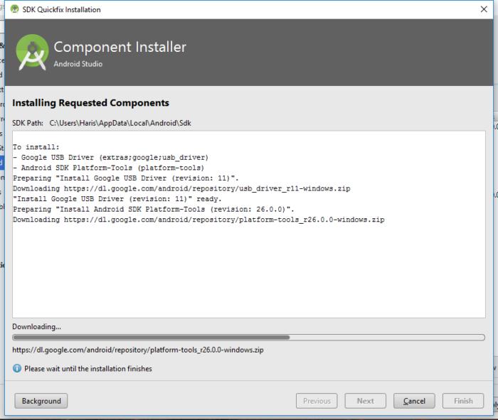 Android Studio - SDK-verktyg, Google USB-drivrutin