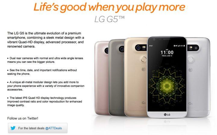 AT&T är den första amerikanska operatören som bekräftar LG G5