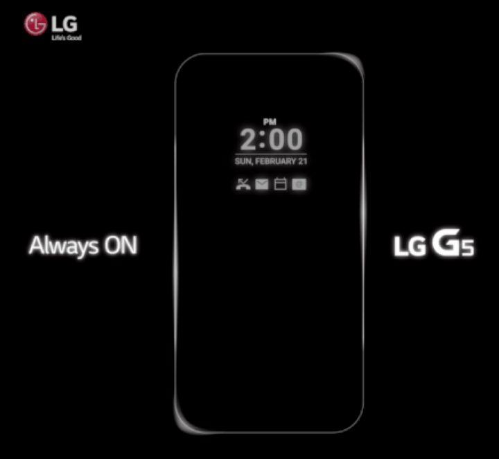 LG G5-skärm