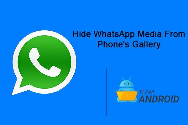 Dölj WhatsApp Media