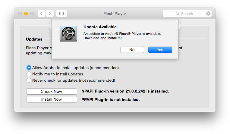 Adobe Flash Player 22.0.0.192