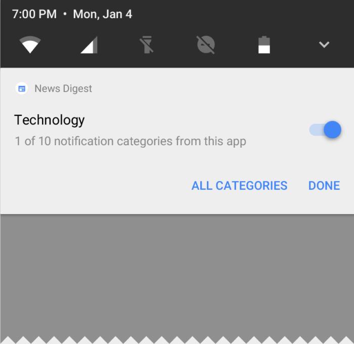 Android O-meddelanden